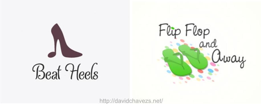 20 dise os de logotipos creativos para zapatos paperblog for Diseno de zapatos