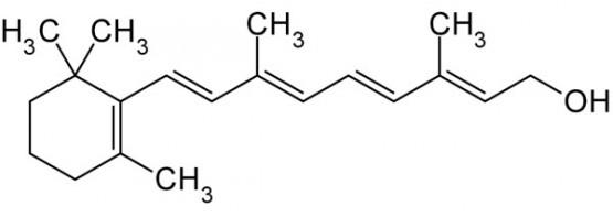 Molécula de retinol