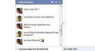 Foto de perfil como Emoticonos en Chat de Facebook