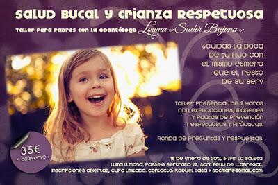Taller de Salud Bucal y Crianza Respetuosa en La Saleta - Sant Feliú de Llobregat