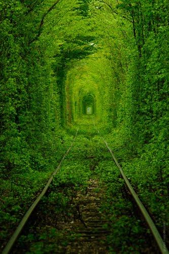 El 'Túnel del Amor' de Ucrania
