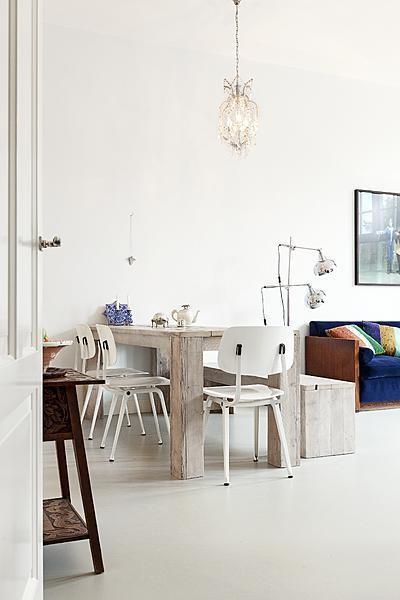 Cinco comedores de estilo industrial con sillas de escuela - Comedores con estilo ...