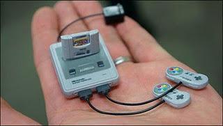 La Super Nintendo más pequeña del universo.