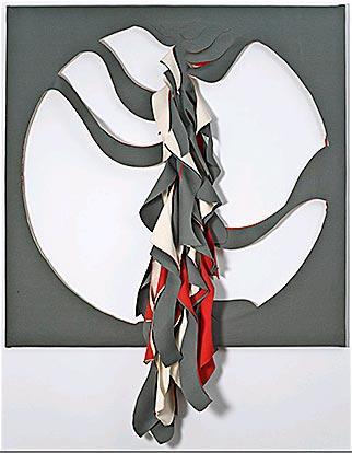 Emilia Azcárate 'Sin Título', 2011. Lona sobre lona 154 x 154 cm.