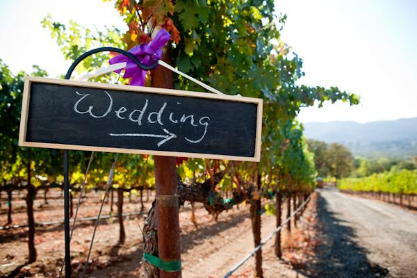 Señal de pizarra/Chalkboard wedding sign