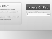 Qikpad: documentos colaborativos registro