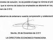 hijos trabajadores Tussam escibren carta Reyes Urdangarín