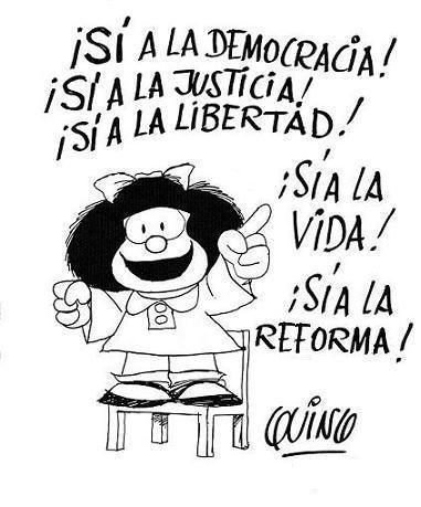 reforma, mafalda, quino, reforma legislativa, reforma democracia