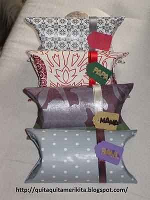 Los paquetes de regalo con tubos del papel higiénico de Tamara