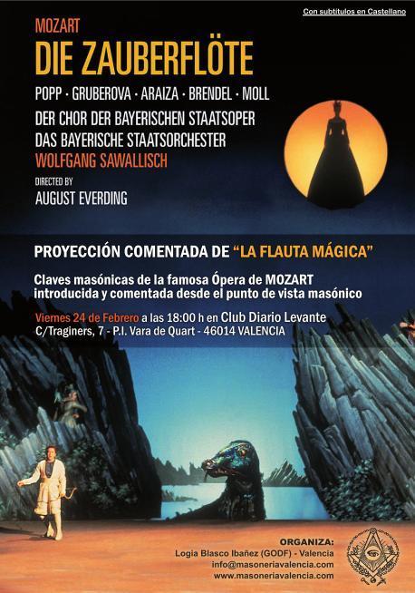 Cartel de la ópera La flauta mágica, de Mozart.