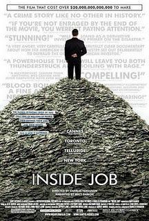 INSIDE JOB (2010), DE CHARLES FERGUSON. EL TRIUNFO DE LOS AMOS DEL UNIVERSO.