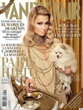 Paris Hilton como un dibujo animado en portada de Vanity Fair España