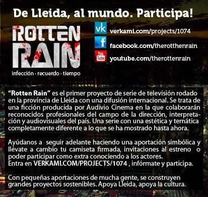 Rotten Rain busca un actor/actriz y tu puedes ser uno de ellos