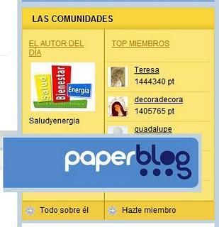 Seleccionado Autor del día en Paperblog (OFF TOPIC)