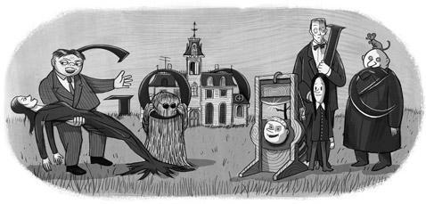 Un Doodle Google en honor al padre de los Locos Adams