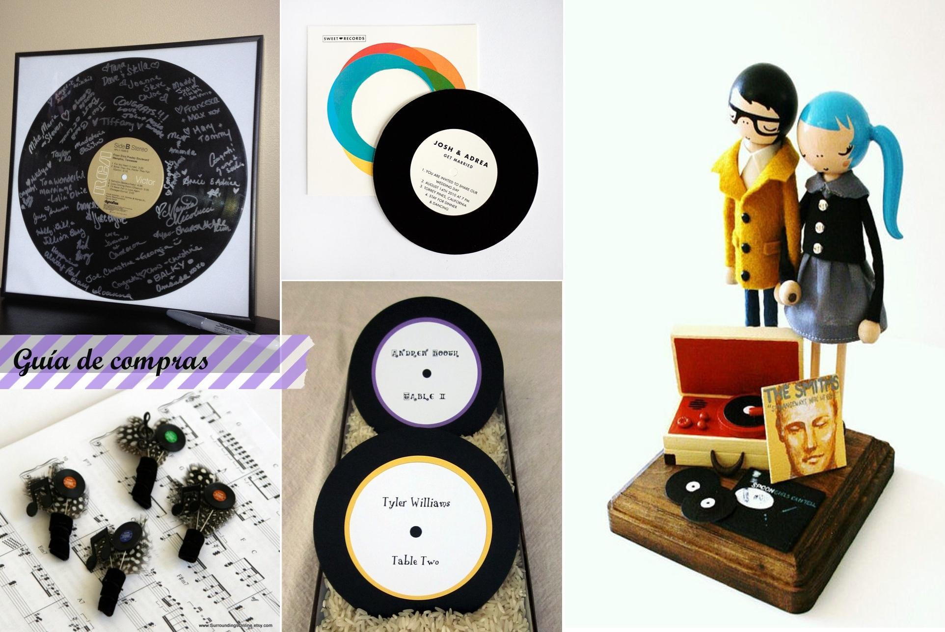 Bodas y discos de vinilo wedding and vinyl records paperblog - Decoracion con discos de vinilo ...