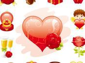 Iconos vectoriales Valentín
