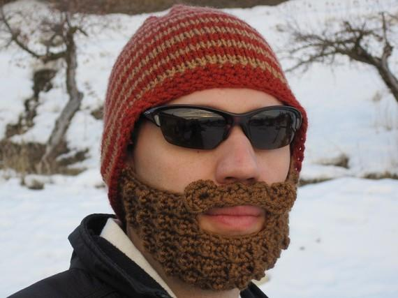 Beanie Hat With Beard Crochet Pattern Free : gorro con barba!!!! - Paperblog