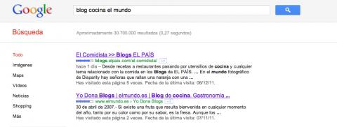 Fallo de posicionamiento en google
