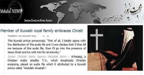 Afirman que un príncipe kuwaití abrazó la fe cristiana con riesgo de su vida