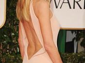 Heidi Klum vestida Calvin Klein Collection, pasada madrugada edición anual premios Globos (Golden Globes) presentado asociación prensa Beverly Hills California