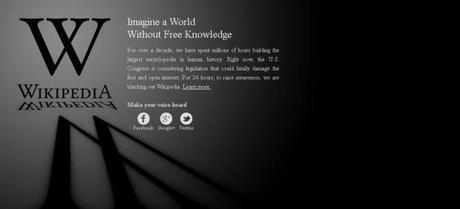 Wikipedia lidera las protestas contra la S.O.P.A