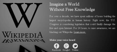 Google se suma hoy a protestas contra la Ley SOPA