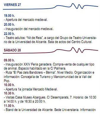 Benissa. Mercado Medieval y XXIV Feria Ganadera 2012