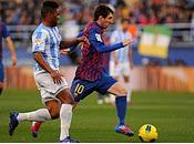 Málaga evidencia ante brillante Barcelona caída picado