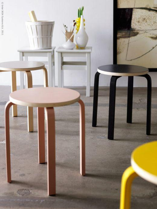 ikea hack pintar los taburetes frosta paperblog. Black Bedroom Furniture Sets. Home Design Ideas