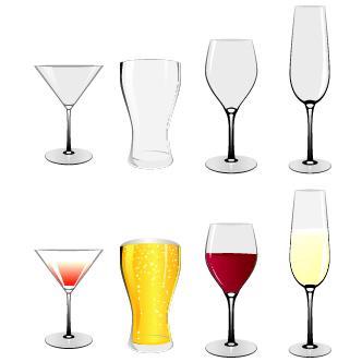 Vasos y copas vectoriales paperblog for Vasos y copas