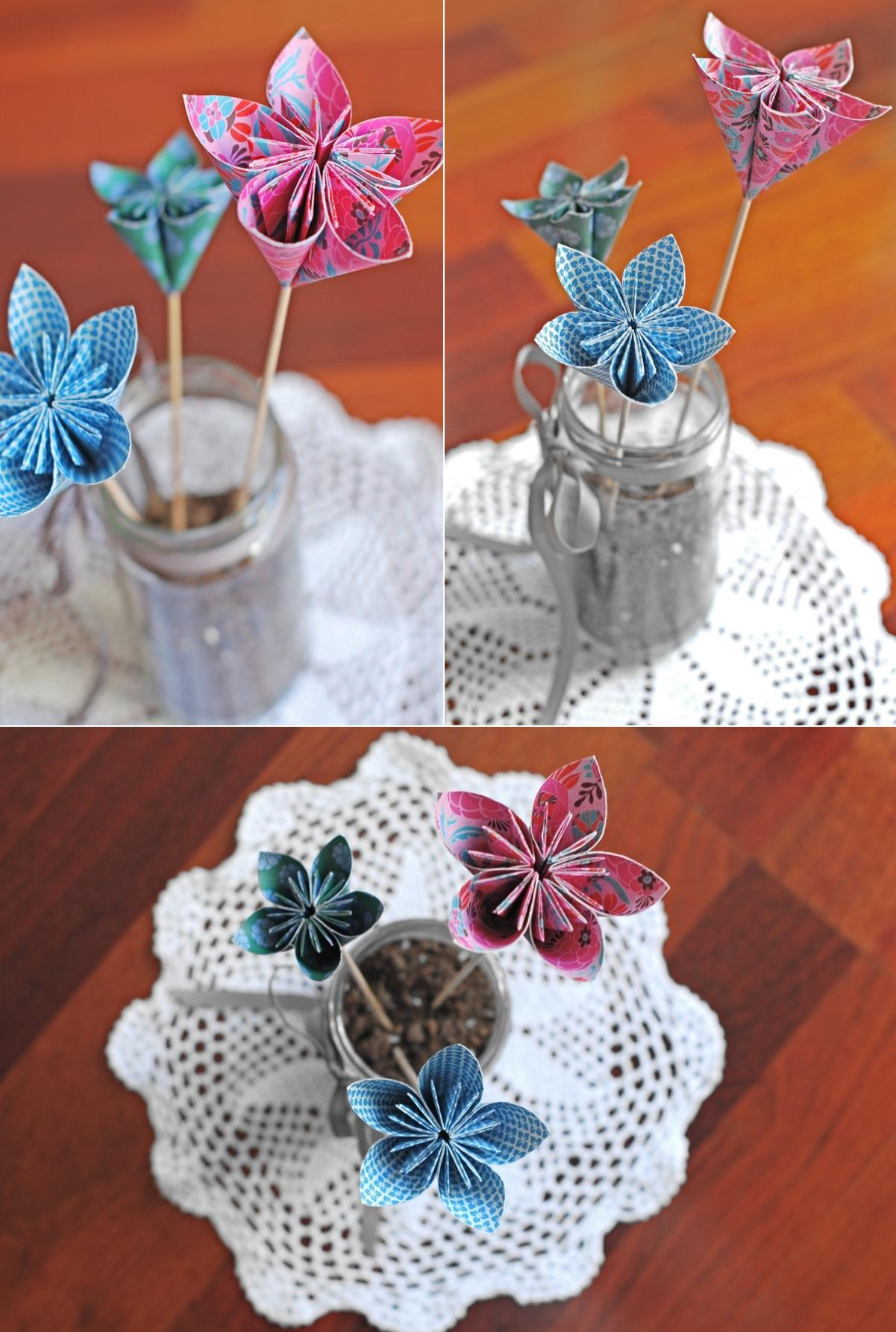 Origami Decoracion De Mesa ~ Centros de mesa con flores de papel Paper flowers centerpieces