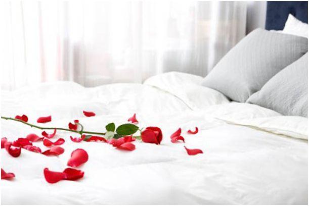 decorar la cama en san valentin