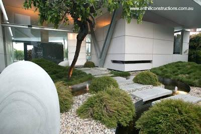 Casa moderna expuesta en australia paperblog for Casa moderna jardines