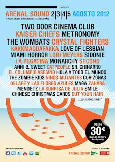 Kakkmaddaf​akka, Metronomy, Crystal Fighters, Love Of Lesbian....En El ARENAL SOUND 2012