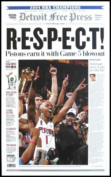 Un alto en el camino para recordar a los Detroit Pistons, el equipo de la década.