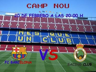 FC  BARCELONA  vs  RACING CLUB