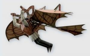Papercraft Ornitóptero de Leonardo da Vinci
