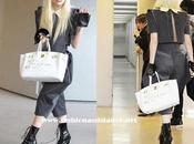 Lady Gaga aterriza Japón bolso Hermès personalizado
