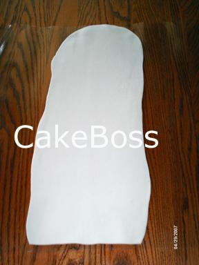 Capa plana de pasta de azúcar