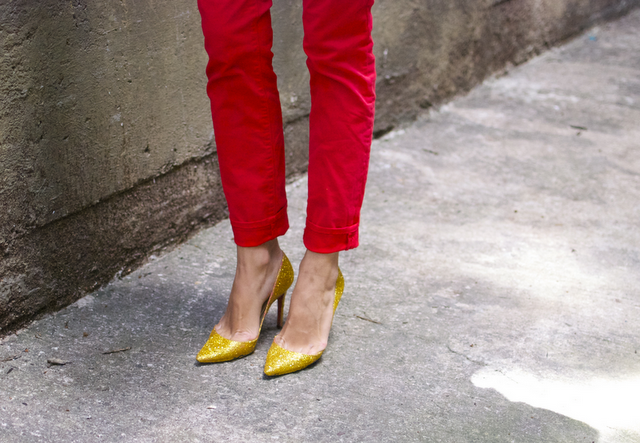 DIY Zapatos con gliters inspiración Miu Miu