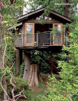 Casa del rbol paperblog for Hotel con casas colgadas de los arboles