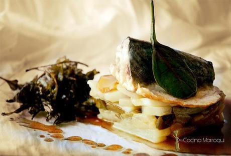 Maquerau del Estrecho con salsa de  Arksous