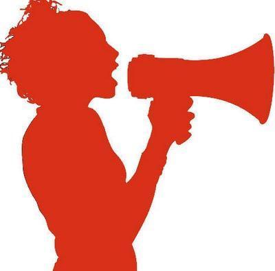 megafono rojo