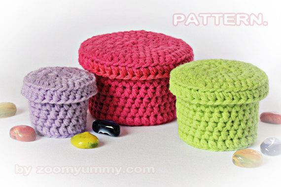 Cajitas de crochet