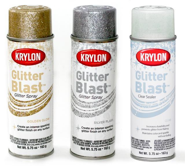 Sparkly Fabric Spray Paint