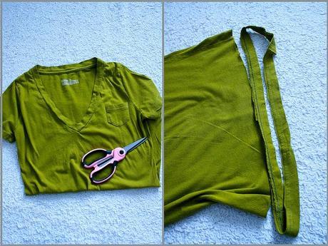 DIY: ¡Un collar hecho con camiseta!