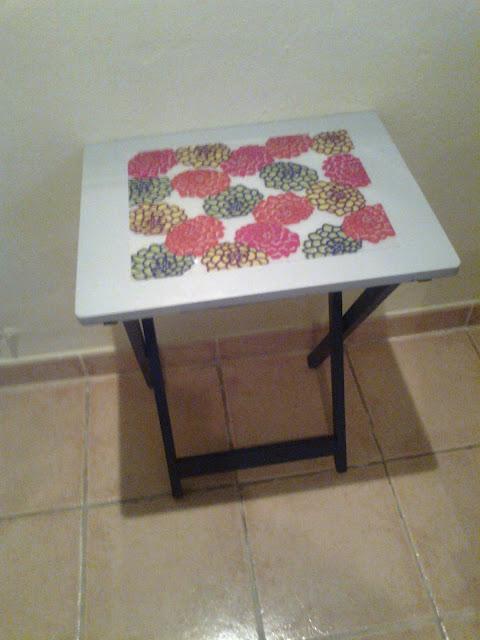 Ikea hack la mesa auxiliar de cristina se viste de custo for Mesa auxiliar plegable ikea