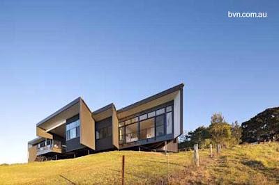 Moderna casa ecológica australiana.