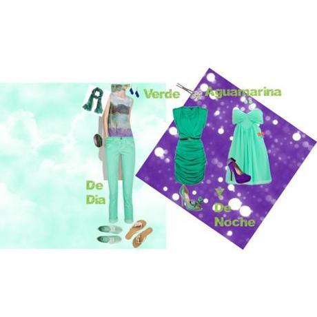 Verde Aguamarina para el Dia y la Noche